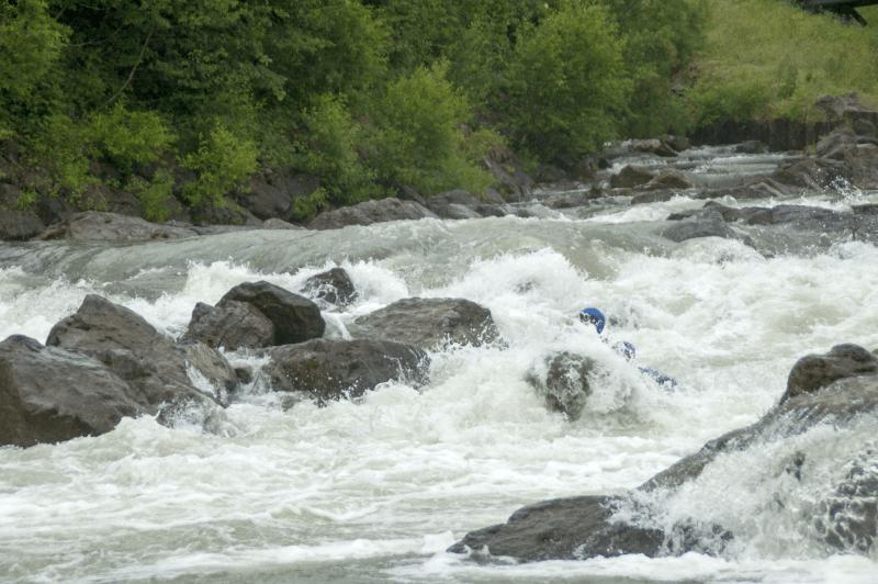 Wildwasser paddeln