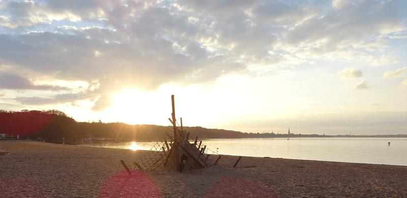 Romantische Sonne am See