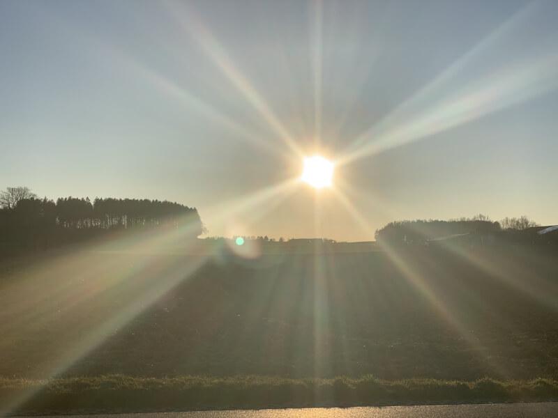 Sonnenuntergang bei Alling